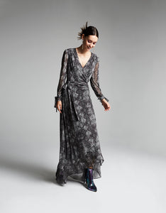 SLITHERING MESH MAXI DRESS GREY