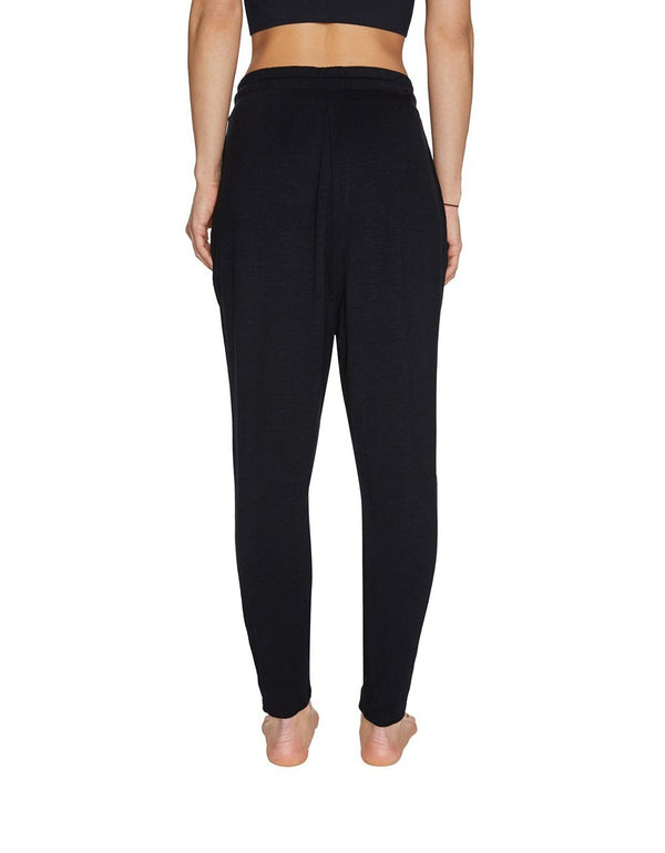 SLUB TERRY HAREM SWEATPANT BLACK - APPAREL - Betsey Johnson