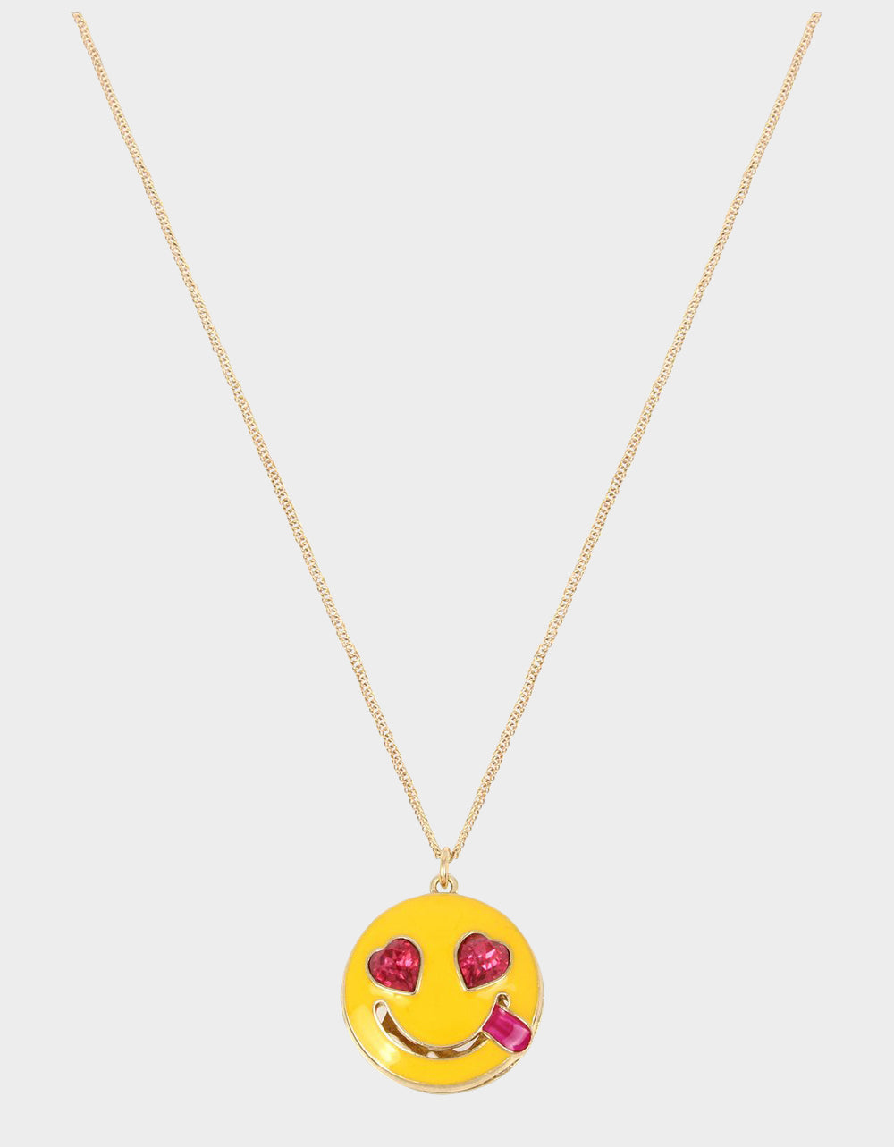 SNACK ATTACK SMILE PENDANT YELLOW - JEWELRY - Betsey Johnson