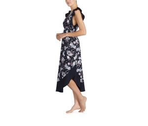 SNAKE CHARMER RUFFLE MAXI FLORAL