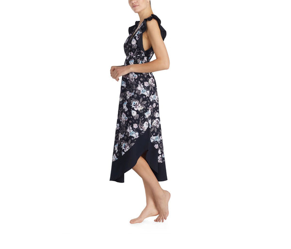 SNAKE CHARMER RUFFLE MAXI FLORAL - APPAREL - Betsey Johnson