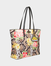 SNAKE IN THE GARDEN TOTE NATURAL SNAKE - HANDBAGS - Betsey Johnson