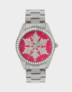 SNOWFLAKE SEASON PINK WATCH PINK