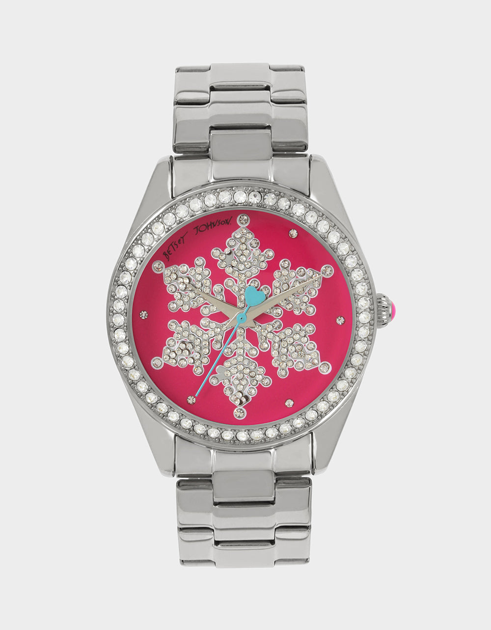 SNOWFLAKE SEASON PINK WATCH PINK - JEWELRY - Betsey Johnson