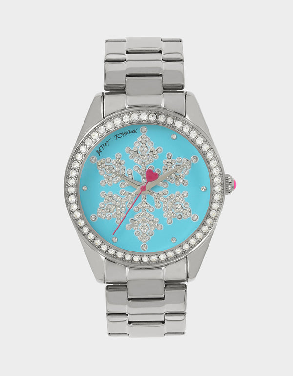 SNOWFLAKE SEASON BLUE WATCH BLUE - JEWELRY - Betsey Johnson