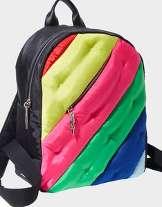 SPOTTED IN STRIPES LARGE BACKPACK MULTI