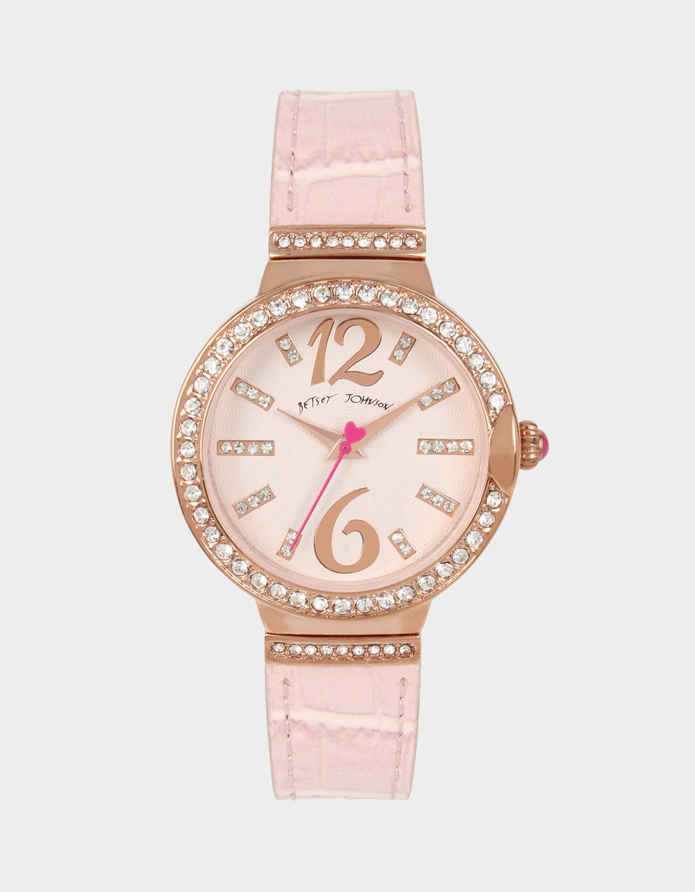 SPRING BREEZE TEXTURED WATCH PINK - JEWELRY - Betsey Johnson