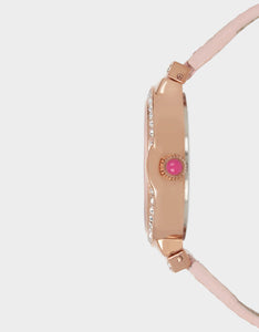 SPRING BREEZE TEXTURED WATCH PINK