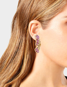 SPRING IN THE AIR DRAMA EARRINGS PURPLE