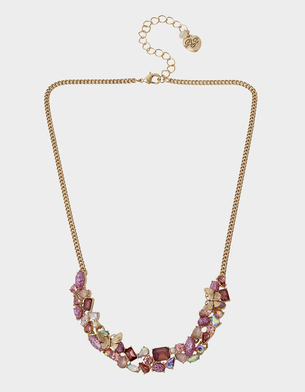 SPRING IN THE AIR STONE NECKLACE PURPLE - JEWELRY - Betsey Johnson