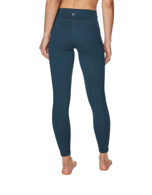 STAR LASER CUT INSET LEGGINGS DARK TEAL - APPAREL - Betsey Johnson