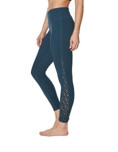 STAR LASER CUT INSET LEGGINGS DARK TEAL
