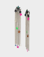 STAR POWER FRINGE DRAMA EARRINGS MULTI - JEWELRY - Betsey Johnson