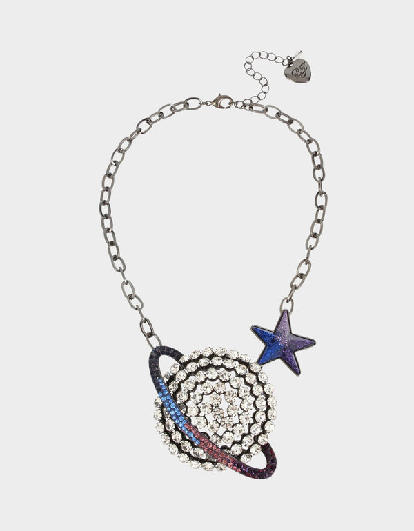 STAR POWER SATURN PENDANT BLUE - JEWELRY - Betsey Johnson