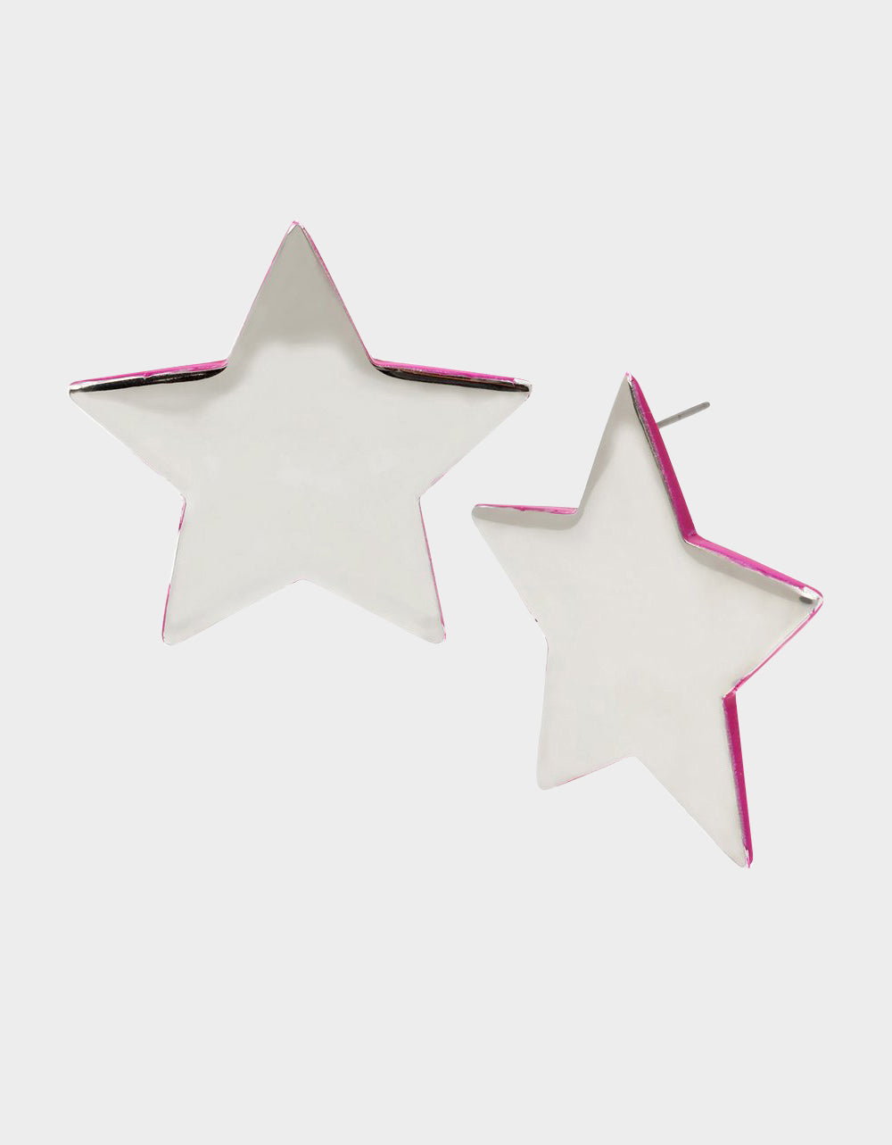 STAR POWER STAR STUD EARRINGS PINK - JEWELRY - Betsey Johnson