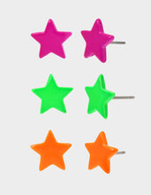 STAR POWER THREE STUD SET MULTI - JEWELRY - Betsey Johnson
