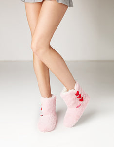 STAY TOASTY PINK BOOTIE SLIPPERS