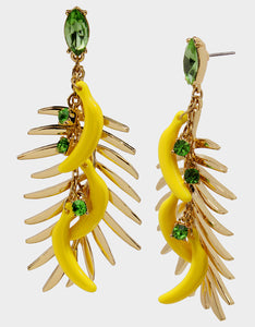 STAY WILD BANANA EARRINGS YELLOW