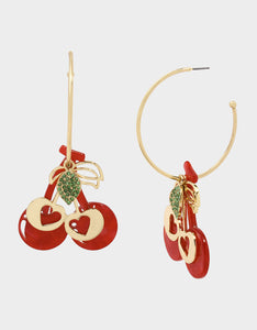 STAY WILD CHERRY CONVERTIBLE EARRINGS RED
