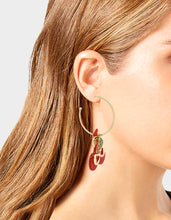 STAY WILD CHERRY CONVERTIBLE EARRINGS RED - JEWELRY - Betsey Johnson