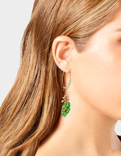 STAY WILD PINEAPPLE HOOK EARRINGS GREEN - JEWELRY - Betsey Johnson