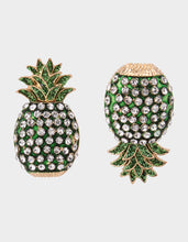 STAY WILD PINEAPPLE STUD EARRINGS GREEN - JEWELRY - Betsey Johnson