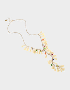 STAY WILD TASSEL NECKLACE MULTI