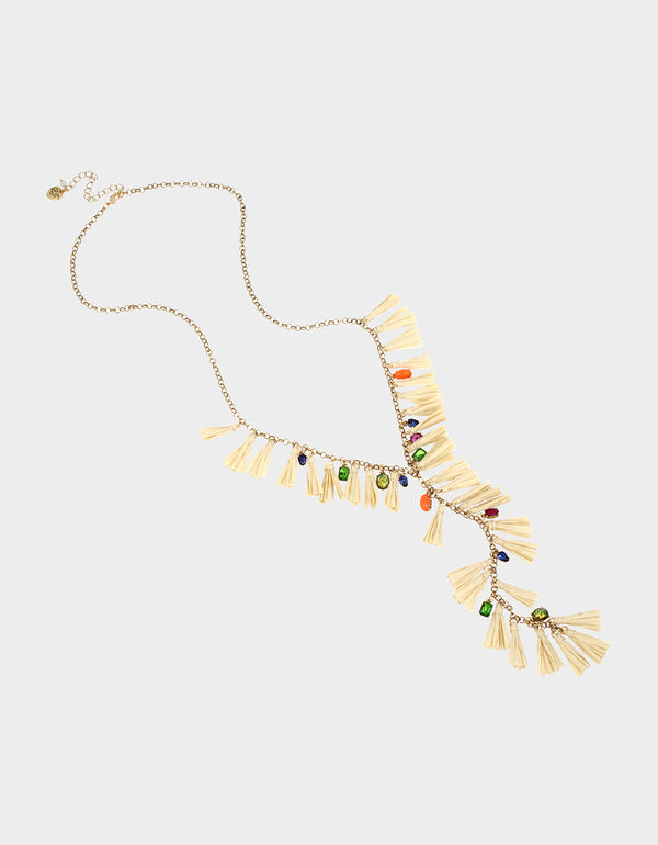 STAY WILD TASSEL NECKLACE MULTI - JEWELRY - Betsey Johnson