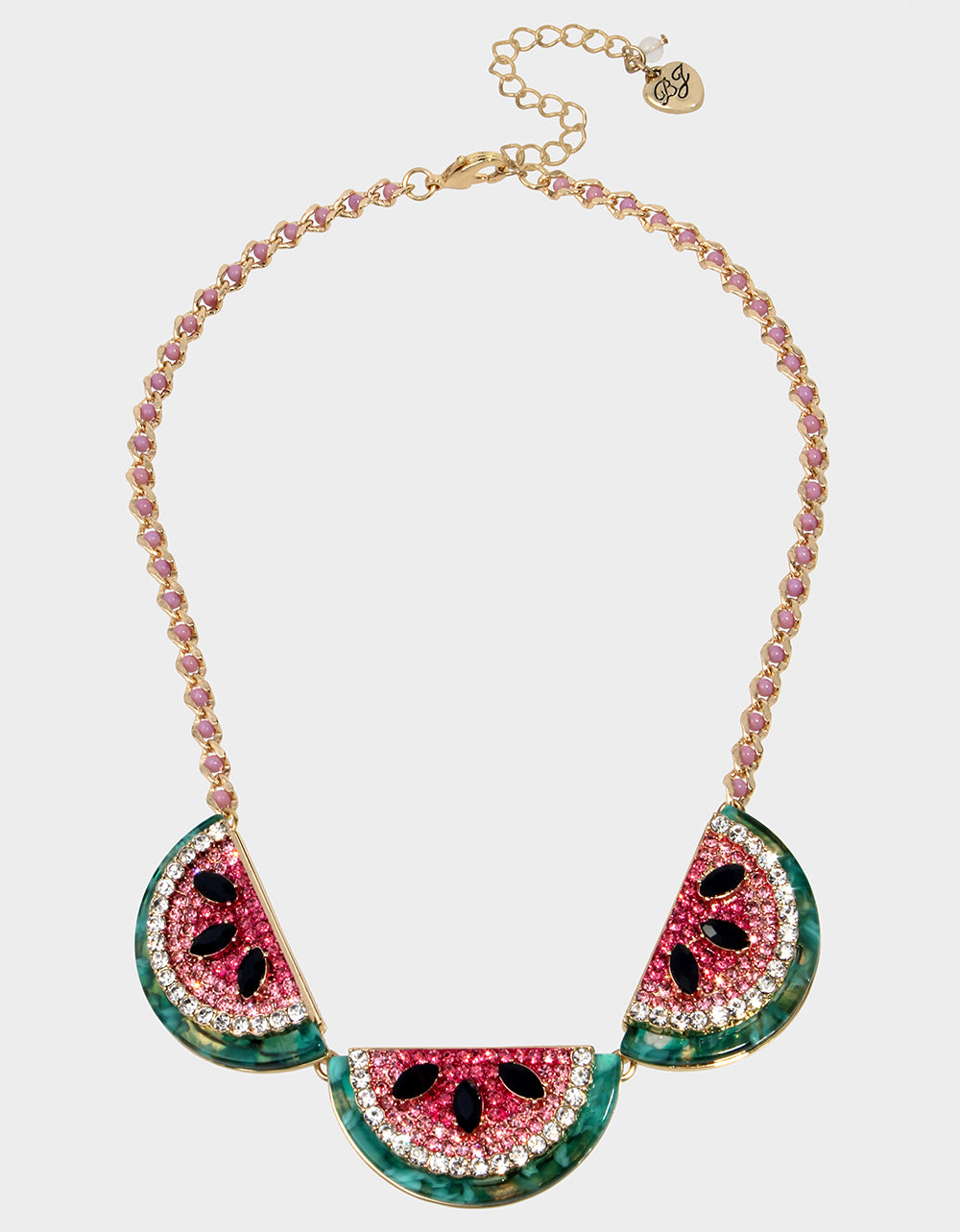 STAY WILD WATERMELON NECKLACE PINK - JEWELRY - Betsey Johnson