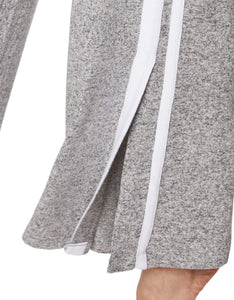 STEP TO THE SIDE STRIPE WIDE LEG PANTS GREY