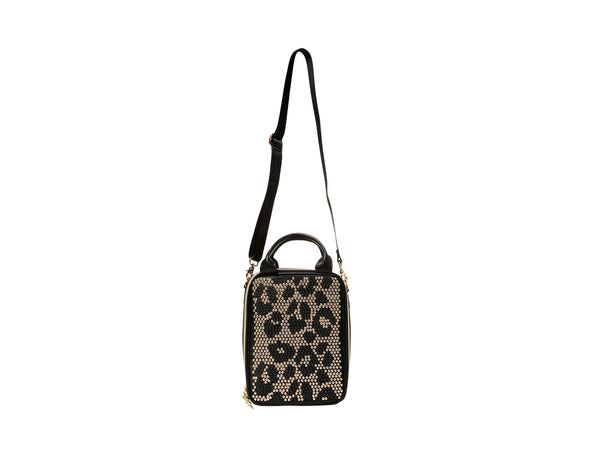 STUDLY LUNCH TOTE LEOPARD - HANDBAGS - Betsey Johnson