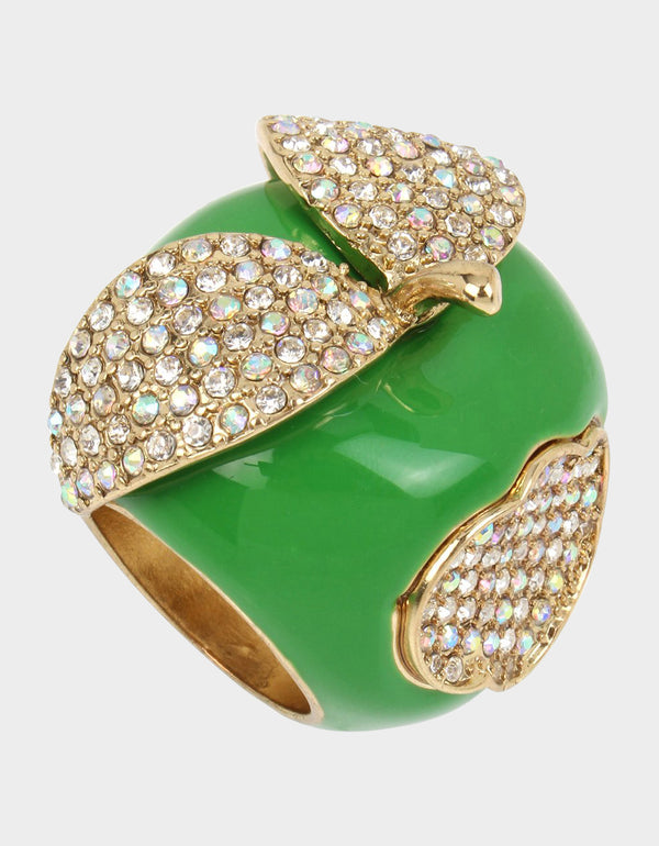 SUMMER PICNIC APPLE RING GREEN - JEWELRY - Betsey Johnson