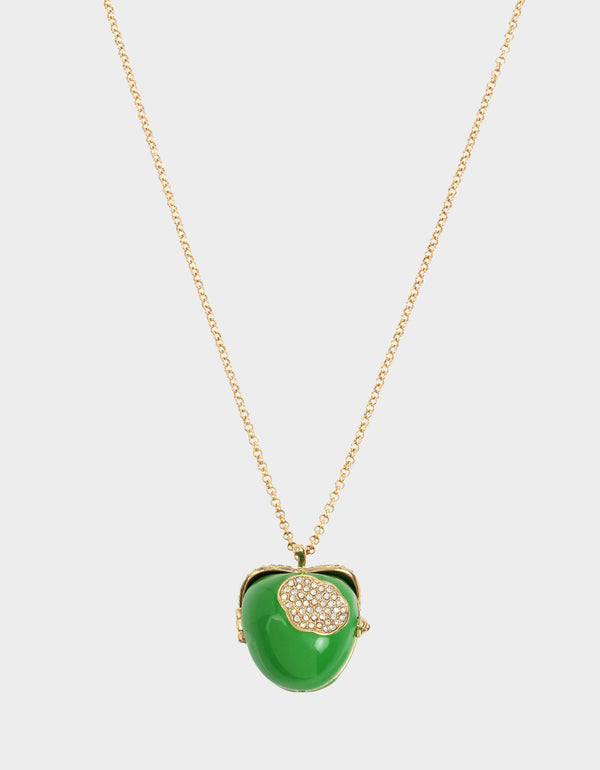 SUMMER PICNIC APPLE SURPRISE PENDANT GREEN - JEWELRY - Betsey Johnson