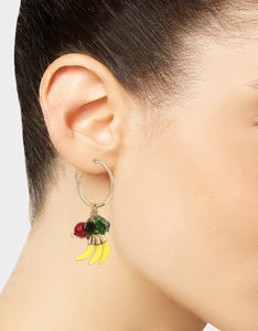 SUMMER PICNIC FRUIT HOOP EARRINGS MULTI