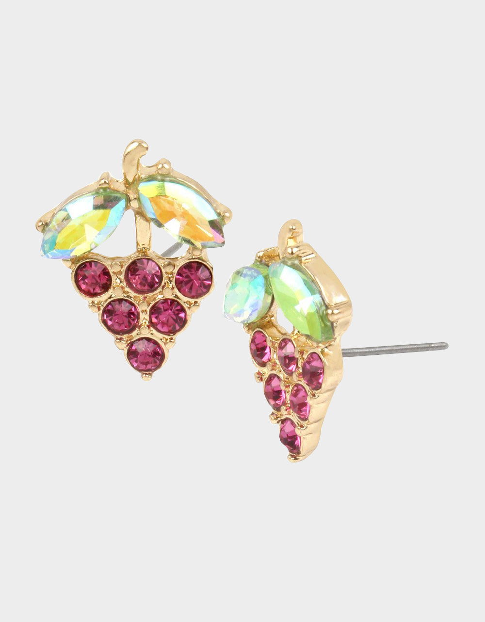 SUMMER PICNIC GRAPE STUD EARRINGS FUCHSIA - JEWELRY - Betsey Johnson