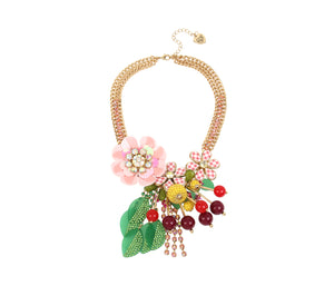 SUMMER PICNIC STATEMENT NECKLACE MULTI