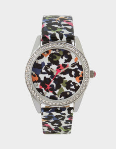 SUMMERTIME SECRETS FLORAL WATCH BLACK MULTI
