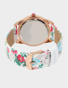 SUMMERTIME SECRETS FLORAL WATCH PINK MULTI