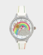 SUNSHINE DAYDREAM RAINBOW WATCH WHITE - JEWELRY - Betsey Johnson