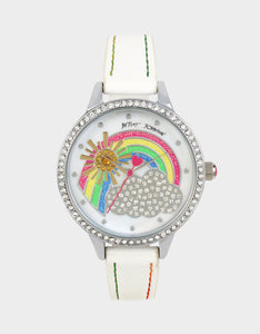 SUNSHINE DAYDREAM RAINBOW WATCH WHITE