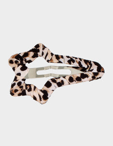 SUPERSTAR BETSEY HAIR CLIP LEOPARD