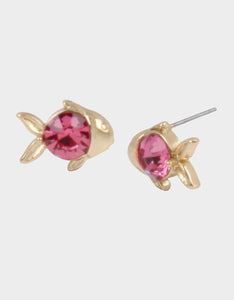 SURFMAID FISH STUD EARRINGS PINK