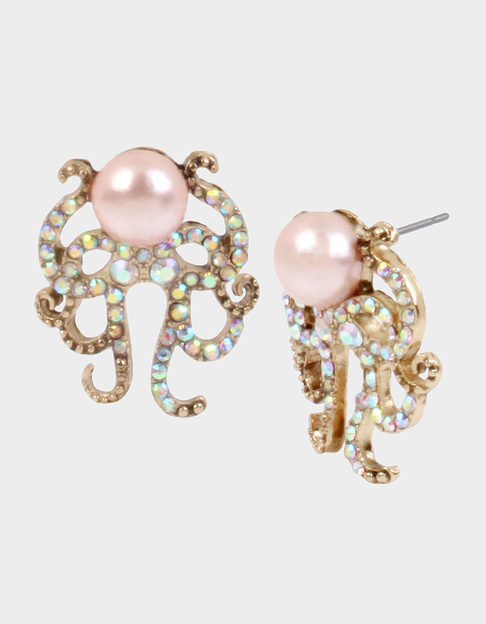 SURFMAID OCTOPUS EARRINGS PINK - JEWELRY - Betsey Johnson