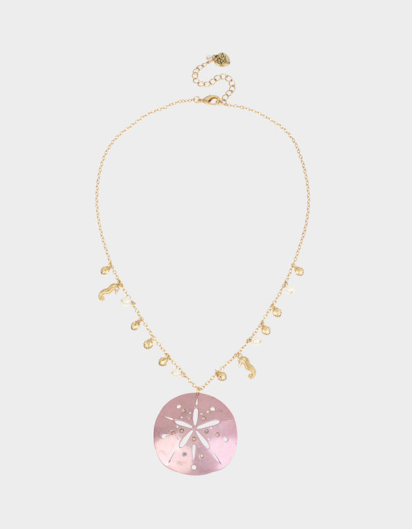 SURFMAID SAND DOLLAR PENDANT PINK - JEWELRY - Betsey Johnson