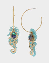 SURFMAID SEAHORSE CONVERTIBLE EARRINGS BLUE - JEWELRY - Betsey Johnson