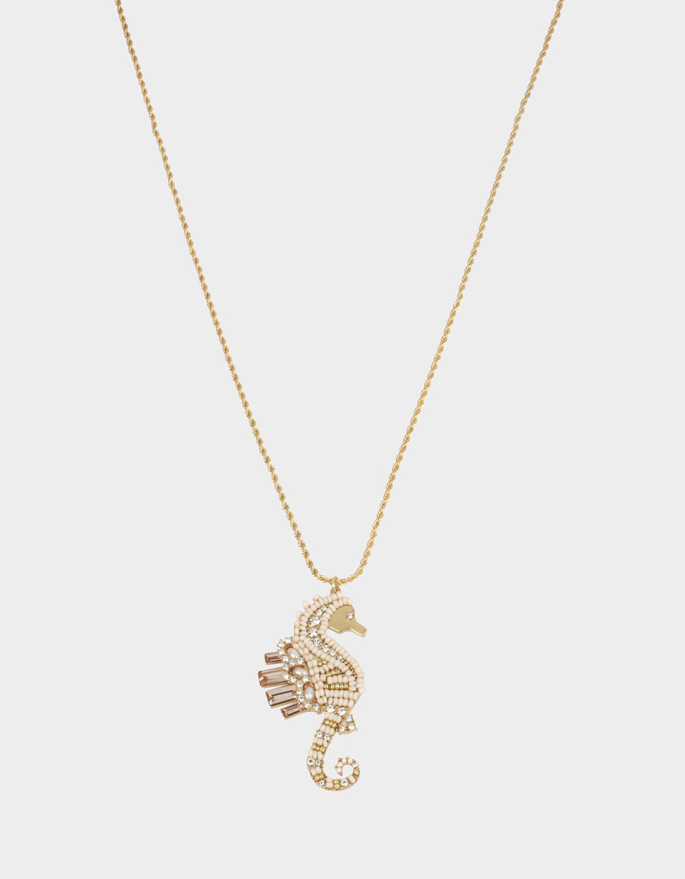 SURFMAID SEAHORSE PENDANT WHITE - JEWELRY - Betsey Johnson