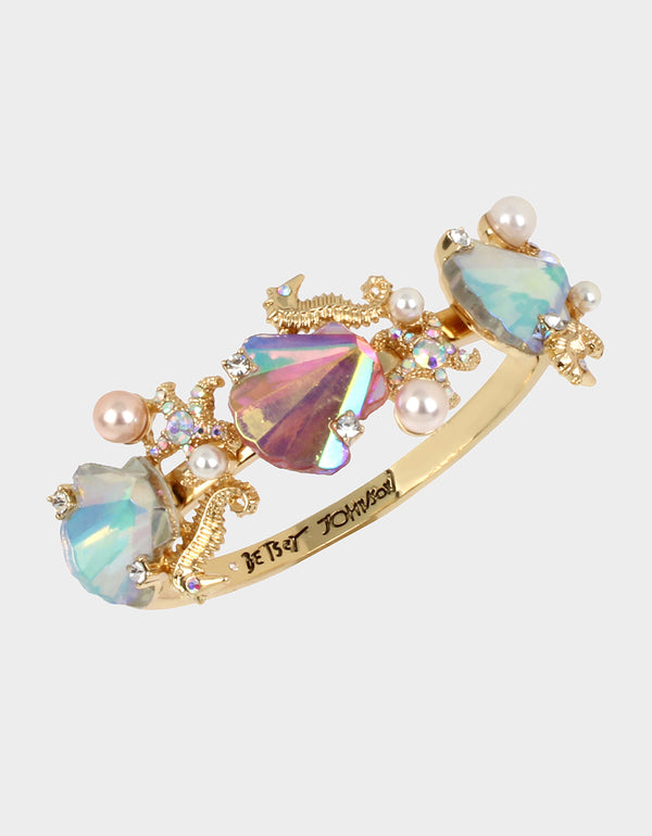 SURFMAID SHELL BANGLE PINK - JEWELRY - Betsey Johnson