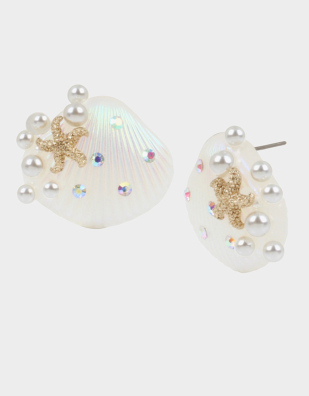 SURFMAID SHELL BUTTON EARRINGS IVORY - JEWELRY - Betsey Johnson