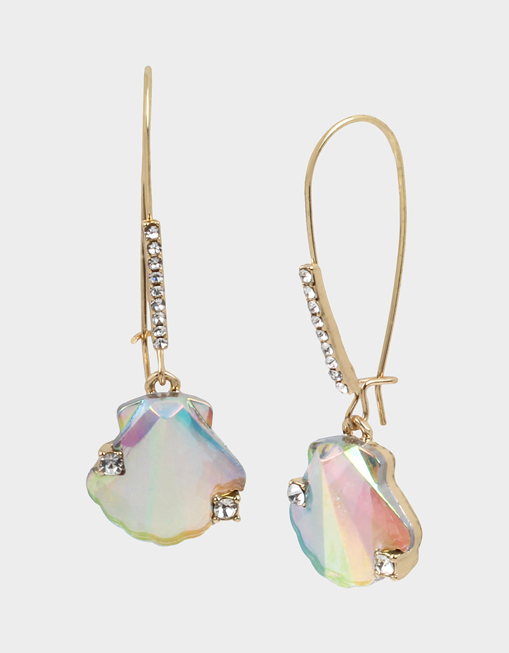 SURFMAID SHELL HOOK EARRINGS CRYSTAL - JEWELRY - Betsey Johnson
