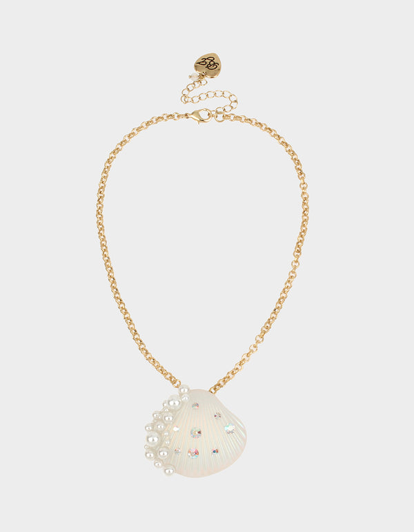 SURFMAID SHELL PENDANT IVORY - JEWELRY - Betsey Johnson